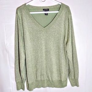 Green w Gold Sparkles Long Sleeve Sweater sz 22-24
